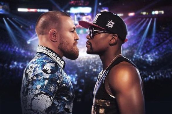 Mayweather vs McGregor fight stand off